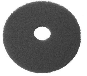 Black Floor Pads 17 inch x 5