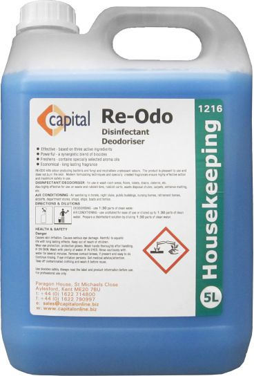 Re-Odo Disinfectant Deodoriser  x 5 ltr