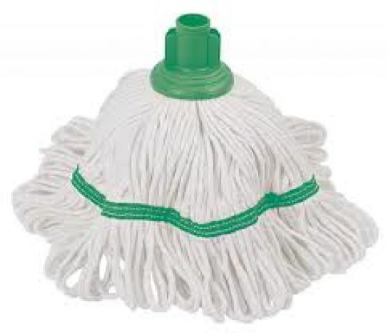 250gm Hygiene Socket Mop Head Green