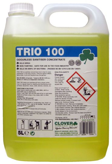Trio 100 Sanitiser/Cleaner x 5 ltr