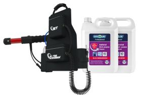 Motor Scrubber Storm C/W Backpack Kit & 2 x Antiviral 5L