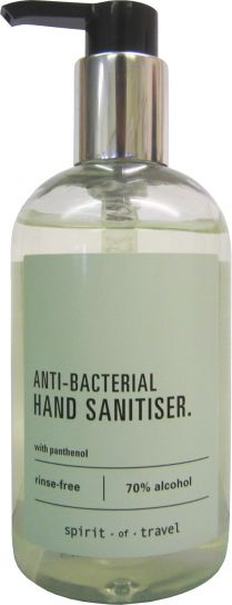Spirit of Travel Fragranced 70% Alcohol Hand Sanitiser x 300 ml