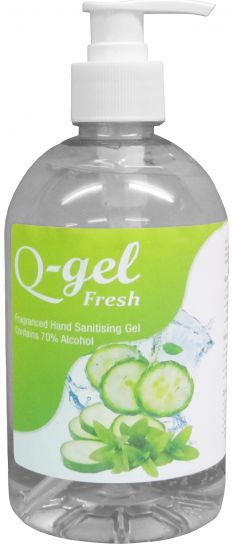 Q-Gel Fresh Fragranced 70% Alcohol Hand Sanitiser x 500 ml