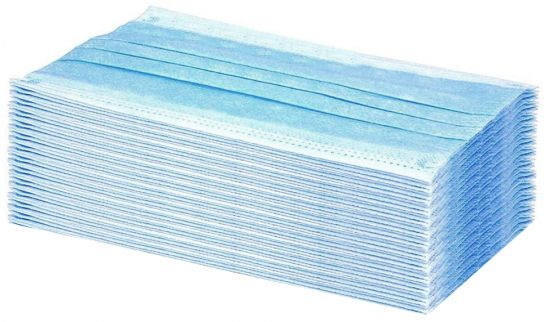 Disposable 3 Ply Surgical Type Face Mask x 50
