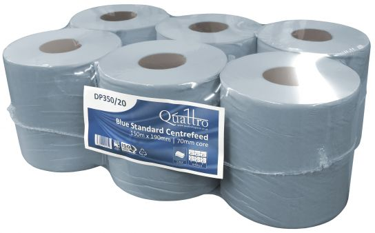 Blue Centre-Feed 2Ply 150M x 19CM x 6
